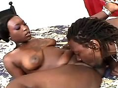 Ebony throats black weenie outdoors