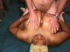 Fantastic black angel takes it deep